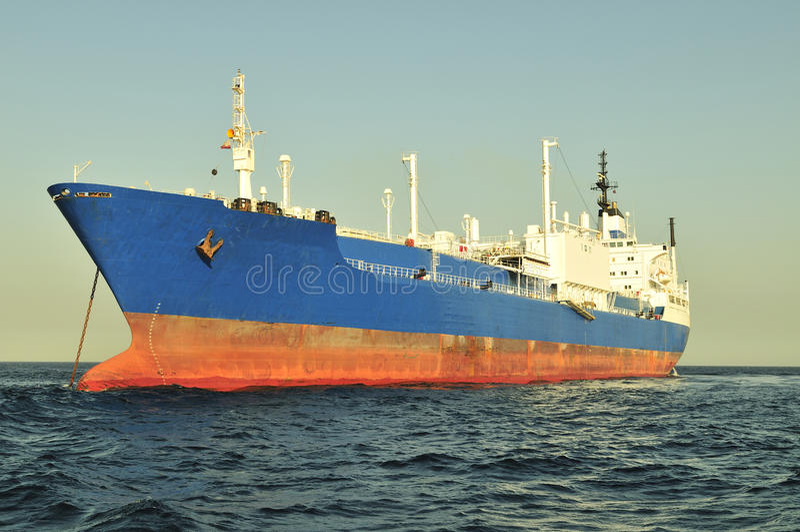 Nave dell'elemento portante di LNG per gas naturale fotografia stock