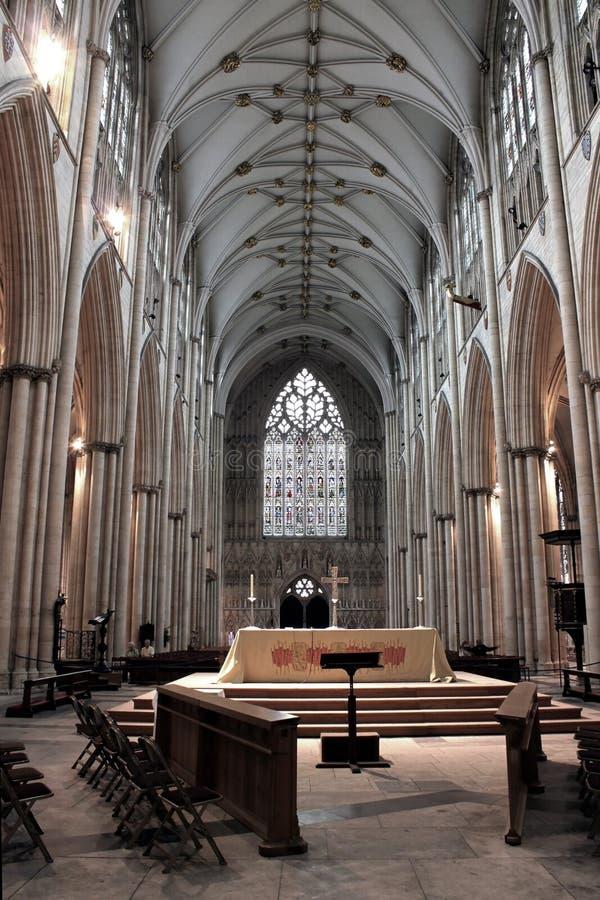 Nave della cattedrale di York immagini stock