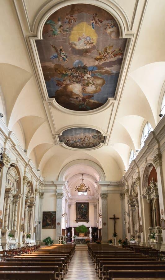 Nave della chiesa del san Anthony Abbot, Marostica, Italia immagine stock