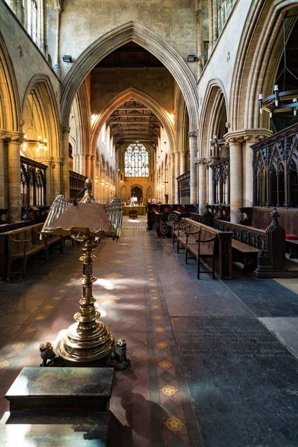Nave della chiesa di St Margaret nel Lynn di re, Norfolk, Inghilterra fotografia stock libera da diritti