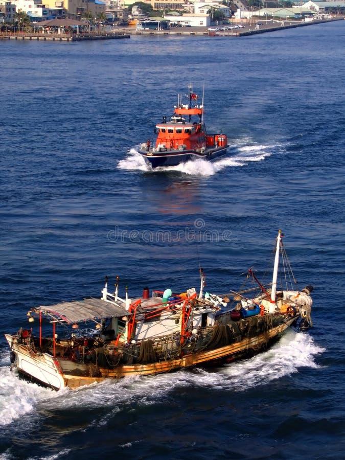 Nave della guardia costiera fotografia stock libera da diritti