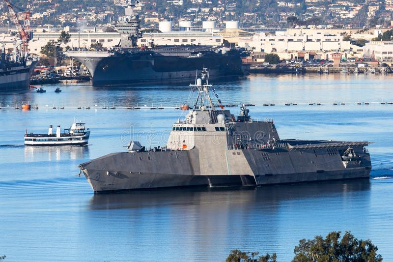 Nave di combattimento litorale USS Montgomery fotografia stock libera da diritti