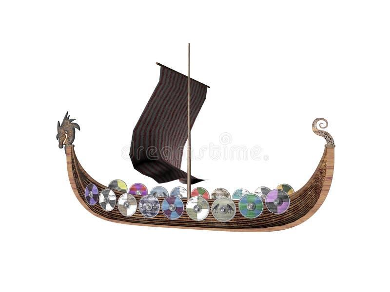 Nave di Drakkar royalty illustrazione gratis