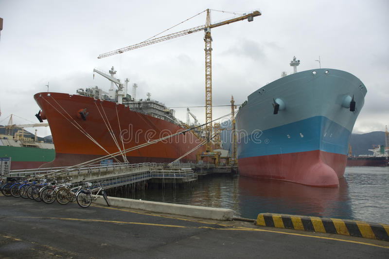 Nave di LNG per gas naturale fotografia stock libera da diritti