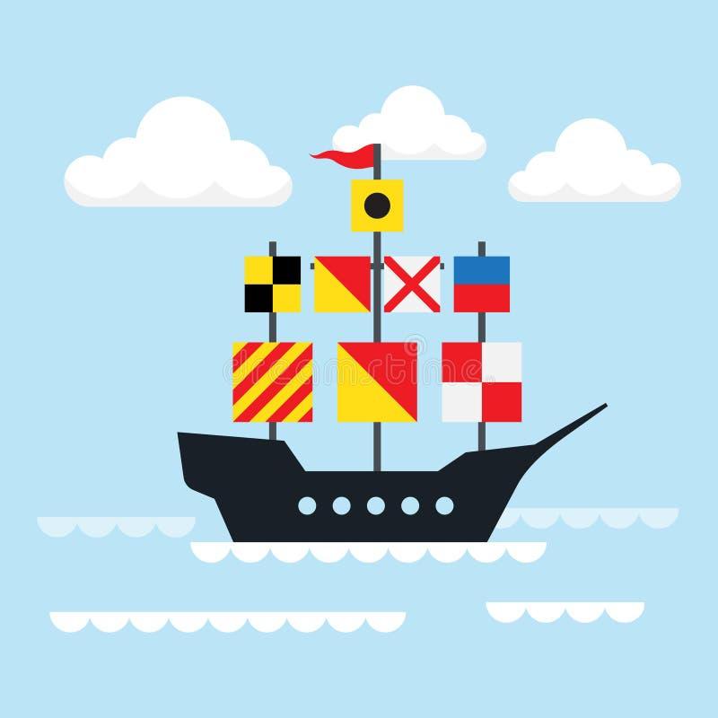 Nave di navigazione Illustrazione di vettore illustrazione vettoriale