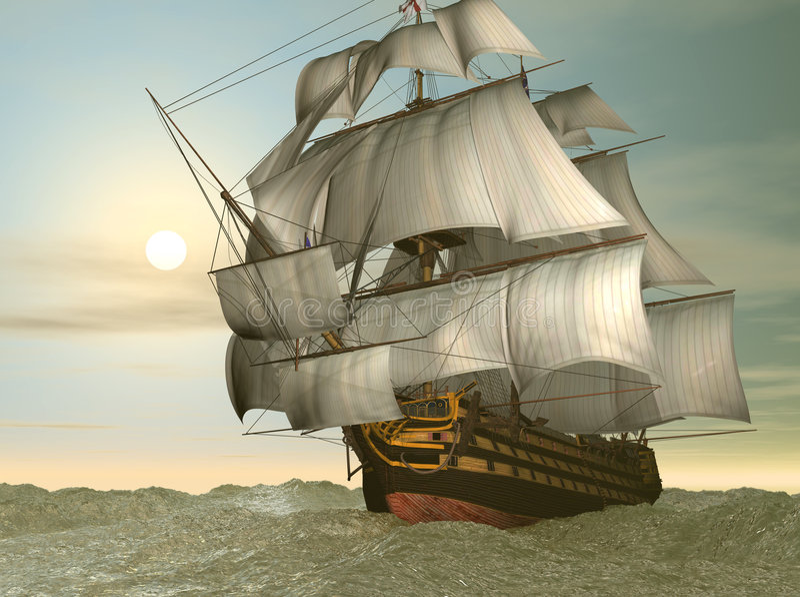 Nave di vittoria di HMS illustrazione di stock