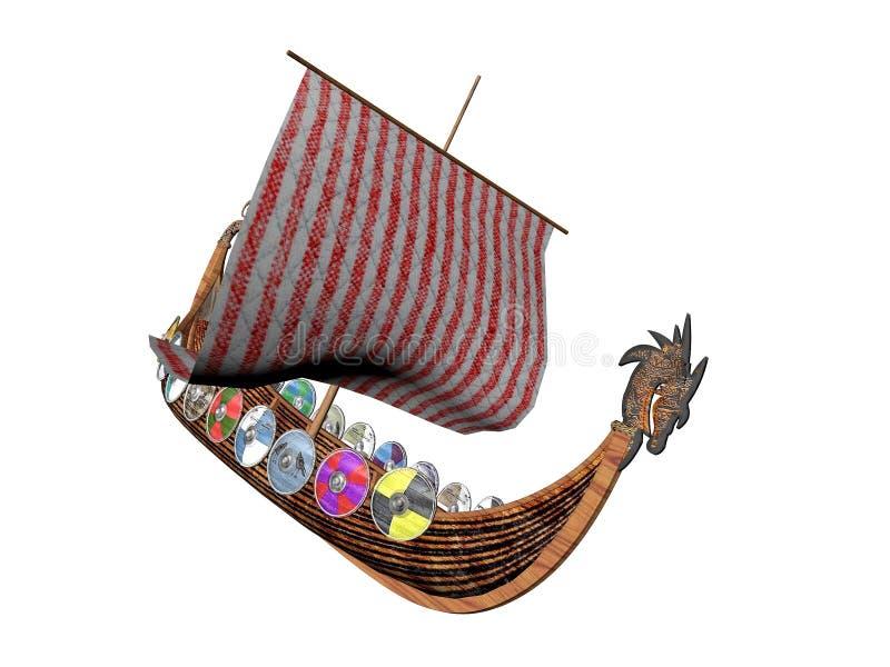 Nave Drakkar del Vichingo illustrazione vettoriale