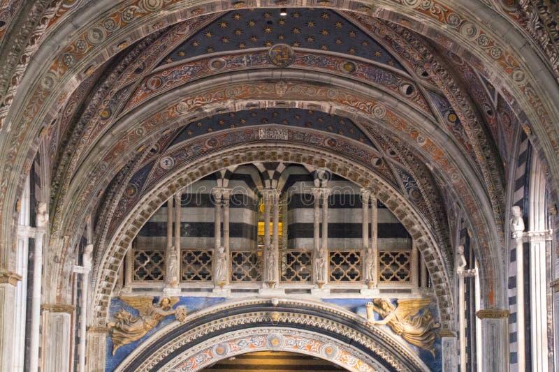 Nave of Duomo di Siena. Metropolitan Cathedral of Santa Maria Assunta. Tuscany. Italy. royalty free stock photography