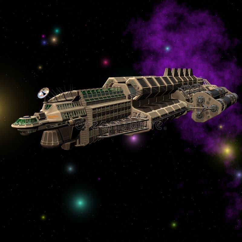 Nave espacial #03 ilustração royalty free