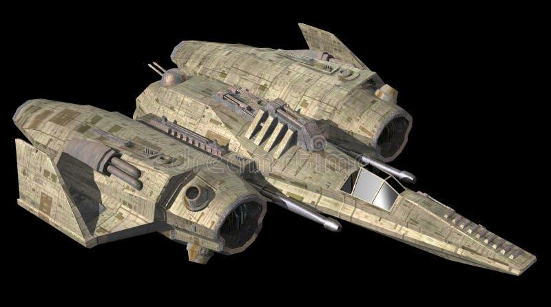 Nave espacial ilustração do vetor