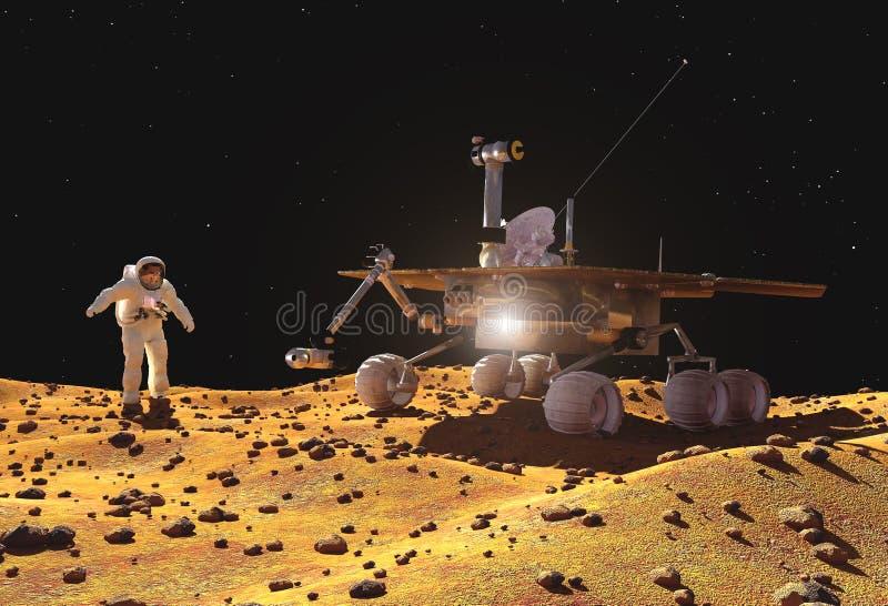 A nave espacial ilustração stock