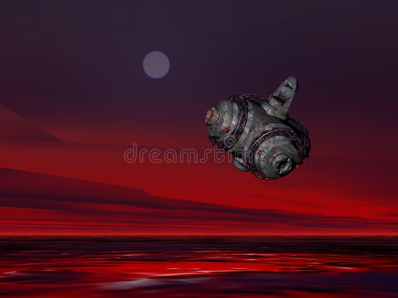 Nave espacial 3 stock de ilustración