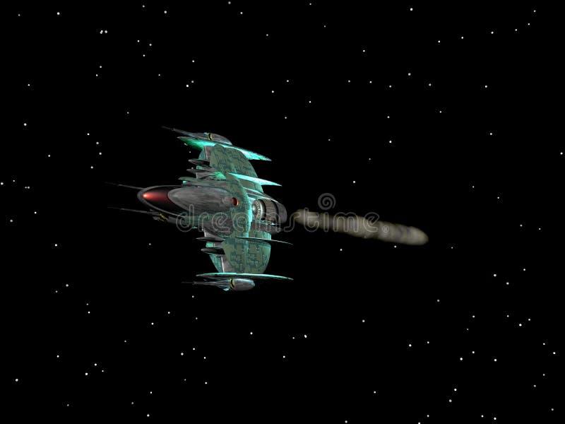 Nave espacial 3 ilustração royalty free