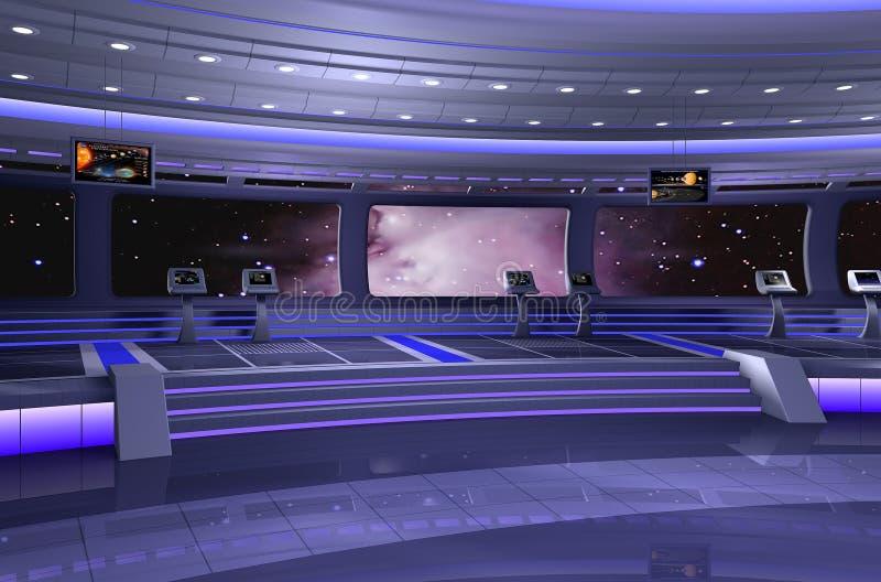 nave espacial 3D ilustração do vetor