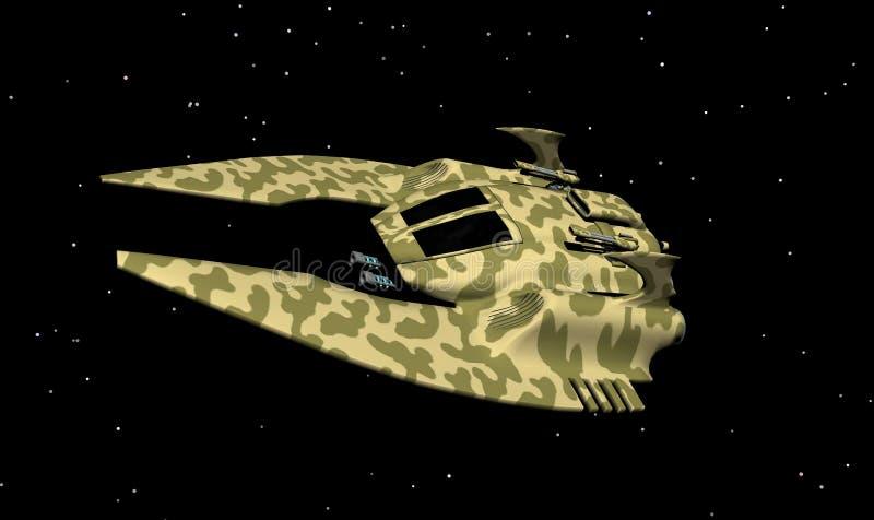 Nave espacial 4 stock de ilustración