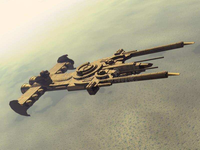Nave espacial ilustração stock