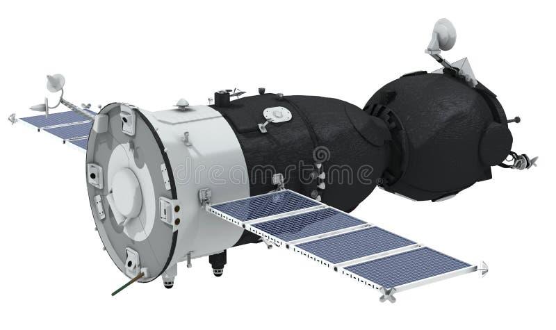 Nave espacial aislada stock de ilustración