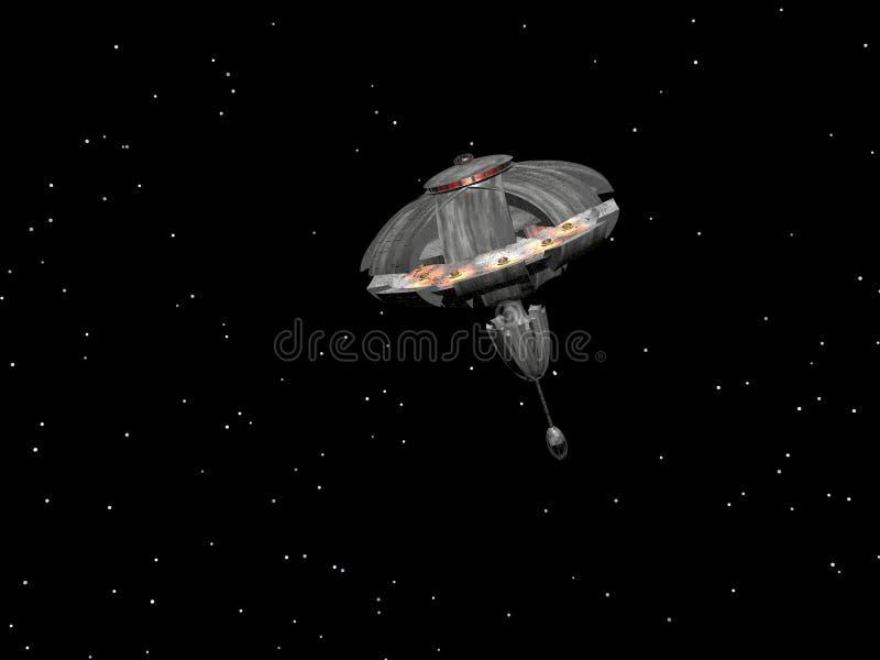 Nave espacial cinco stock de ilustración