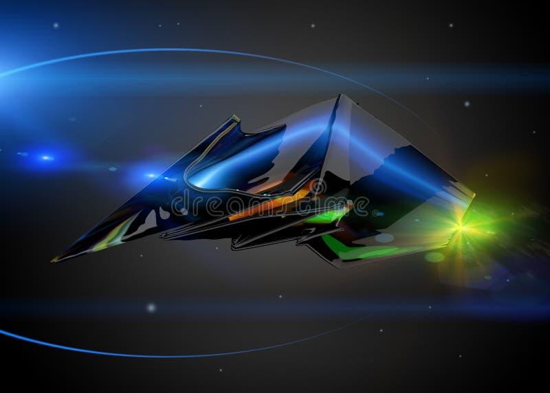 Nave espacial como o conceito ilustração do vetor