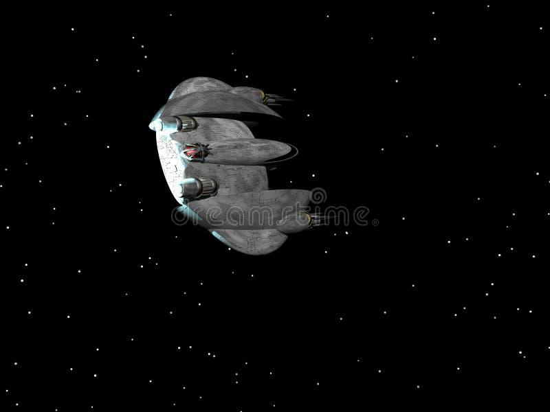 Nave espacial cuatro stock de ilustración