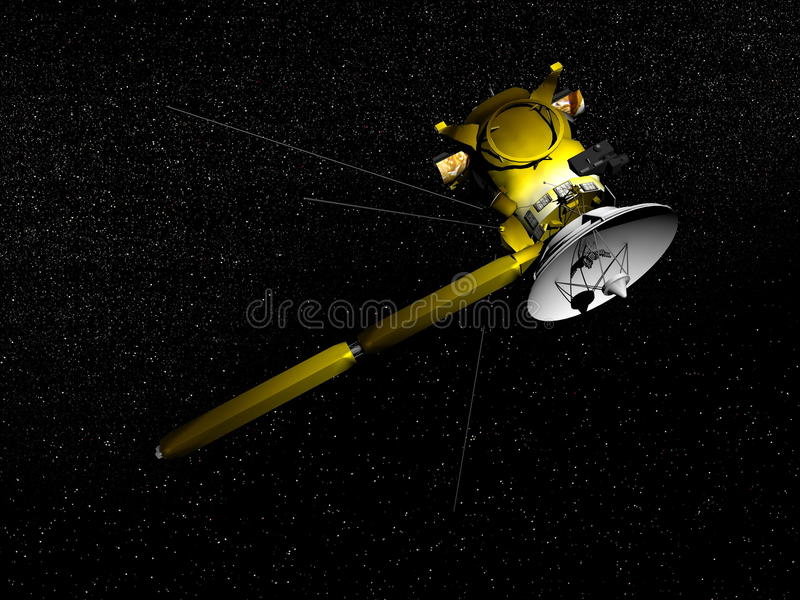 Nave espacial de Cassini - 3D rinden stock de ilustración