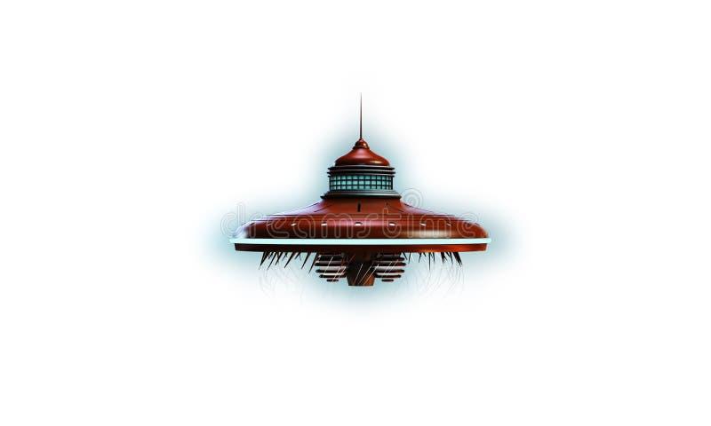 Nave espacial do UFO ilustração stock