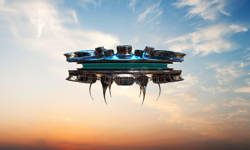 Nave espacial do UFO ilustração do vetor