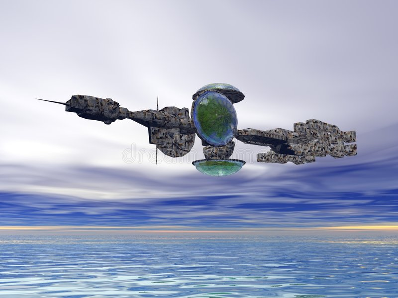 Nave espacial dos ilustración del vector