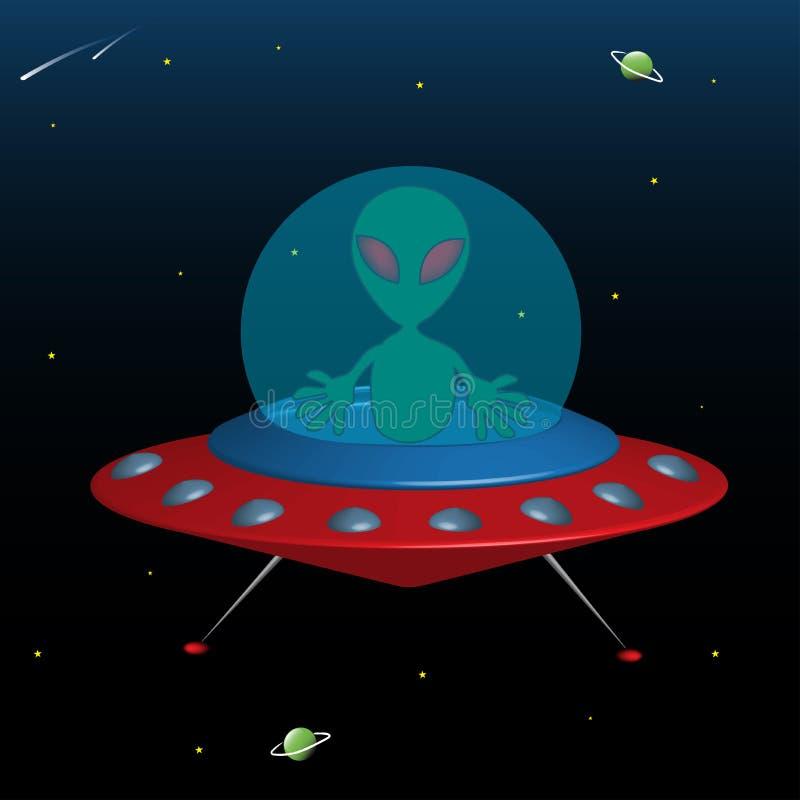 Nave espacial estrangeira ilustração stock