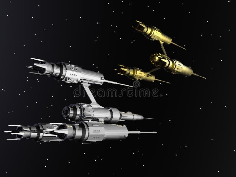 Nave espacial extranjera stock de ilustración