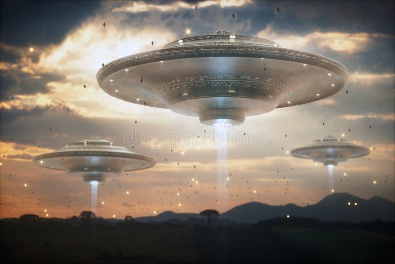 Nave espacial extraterrestre del UFO imagen de archivo