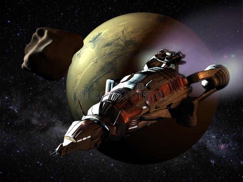 Nave espacial a Marte libre illustration