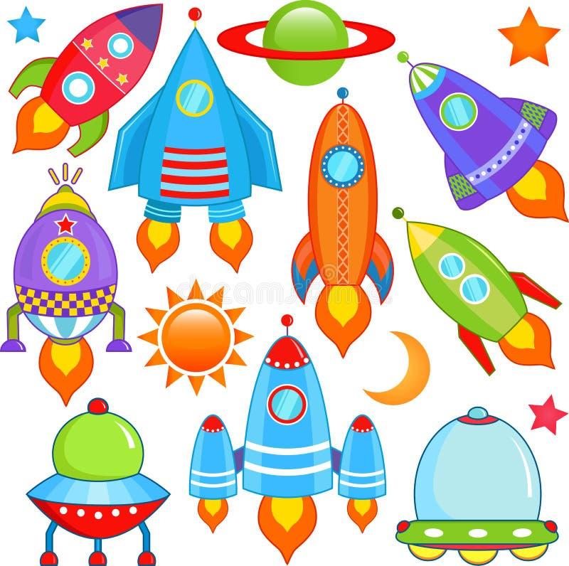 Nave espacial, nave espacial, Rocket, UFO foto de stock royalty free