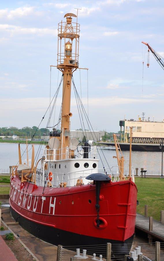 Nave faro Portsmouth (LV-101) degli Stati Uniti fotografia stock