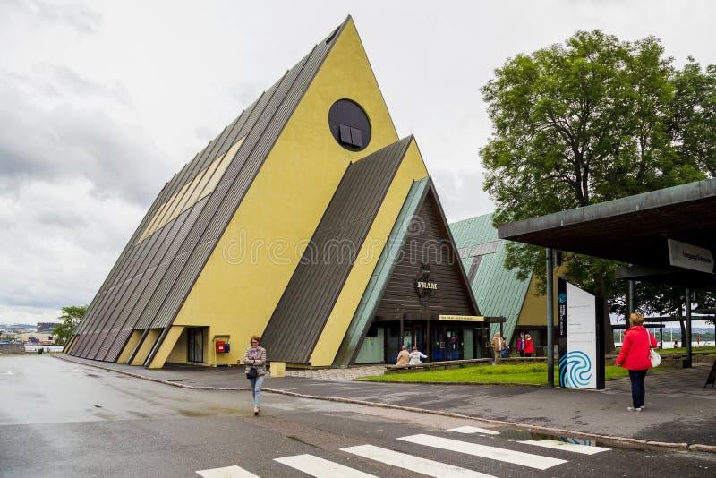 Nave Fram del od del museo a Oslo fotografia stock