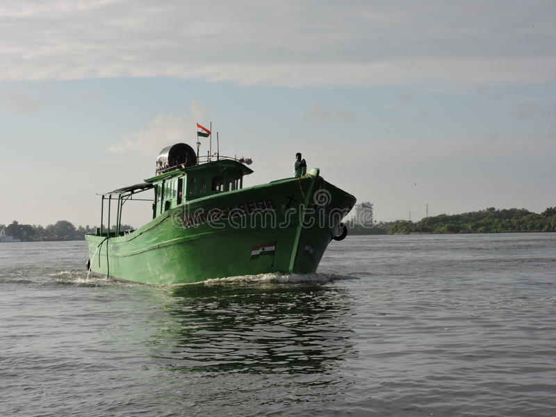 Nave indiana di pesca fotografia stock
