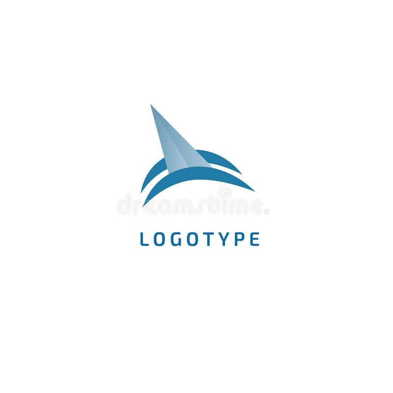 Nave, logotipo de la silueta del logotipo del yate Pesca minimalistic del ejemplo del extracto del vector turismo, travesía, viaj libre illustration