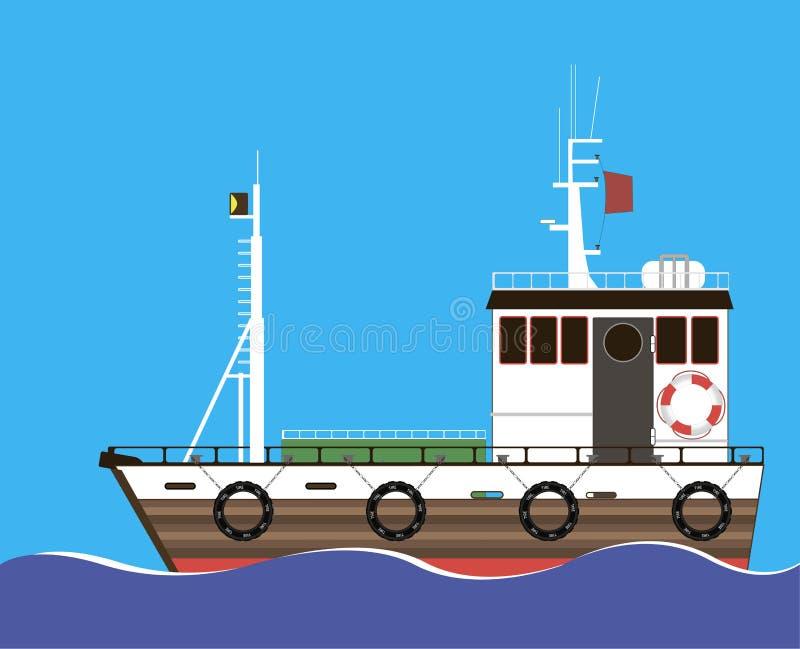 Nave marina del remolque ilustración del vector