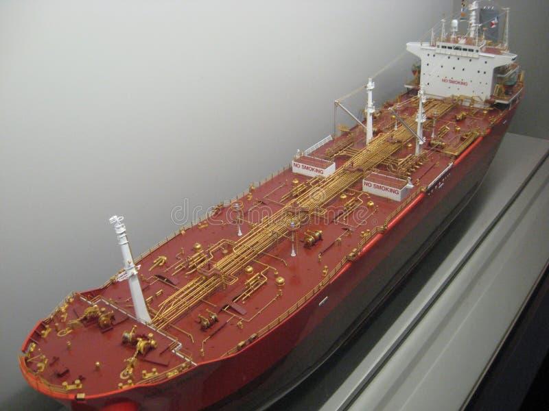 Nave modelo grande en el museo marítimo de Hong Kong fotografía de archivo