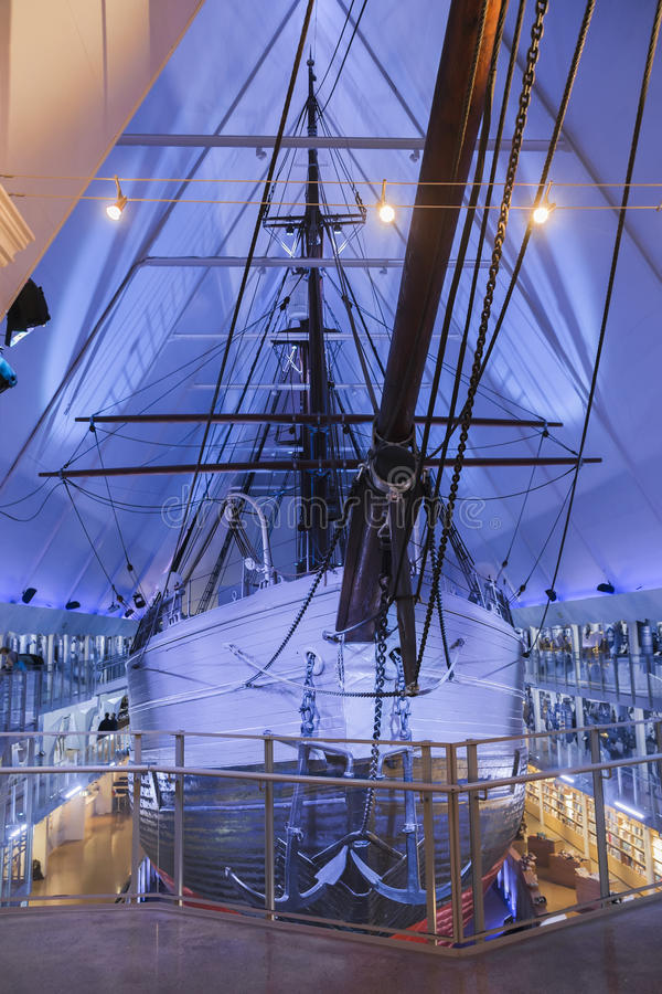 Nave polare al museo di Fram fotografia stock libera da diritti