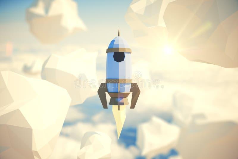 Nave poligonal del cohete libre illustration