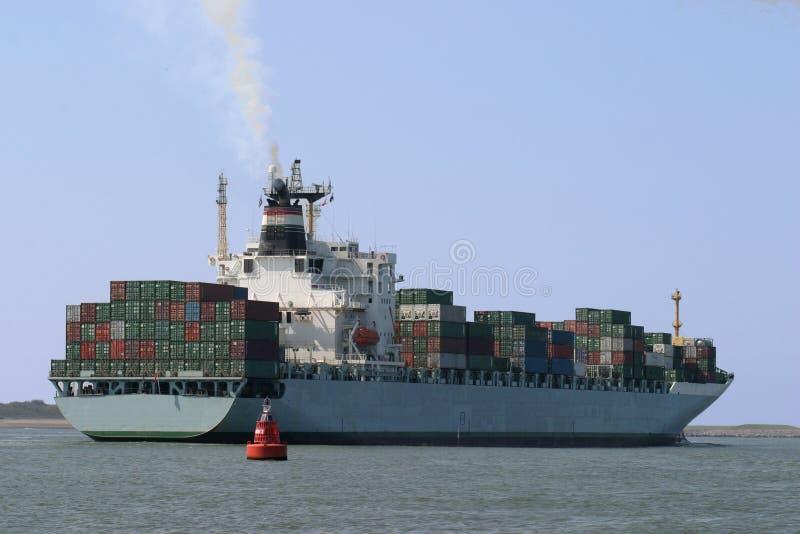 Nave porta-container immagine stock