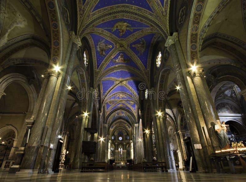 Nave of Santa Maria sopra Minerva stock image