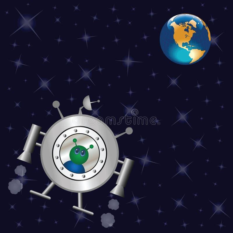 Nave spaziale illustrazione di stock