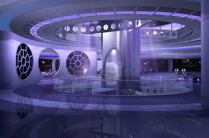 nave spaziale 3D illustrazione vettoriale