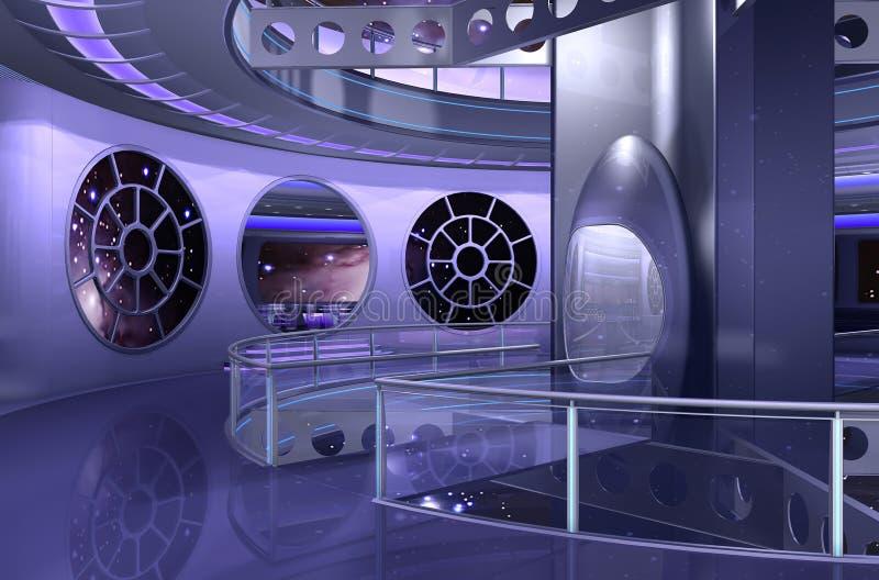 nave spaziale 3D o UFO illustrazione vettoriale