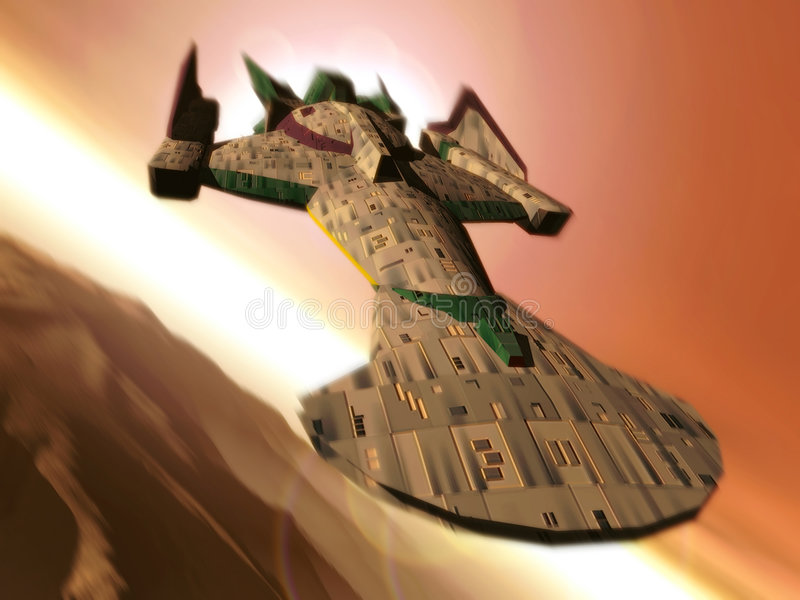 Nave spaziale royalty illustrazione gratis