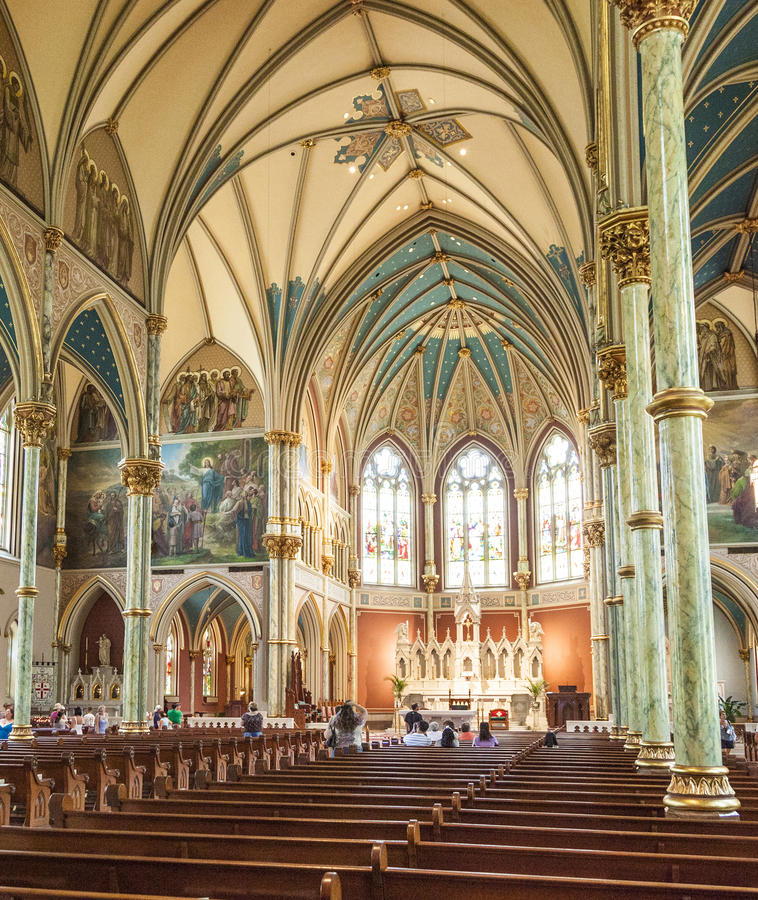Nave of St. John the Baptist in Savannah royalty free stock image