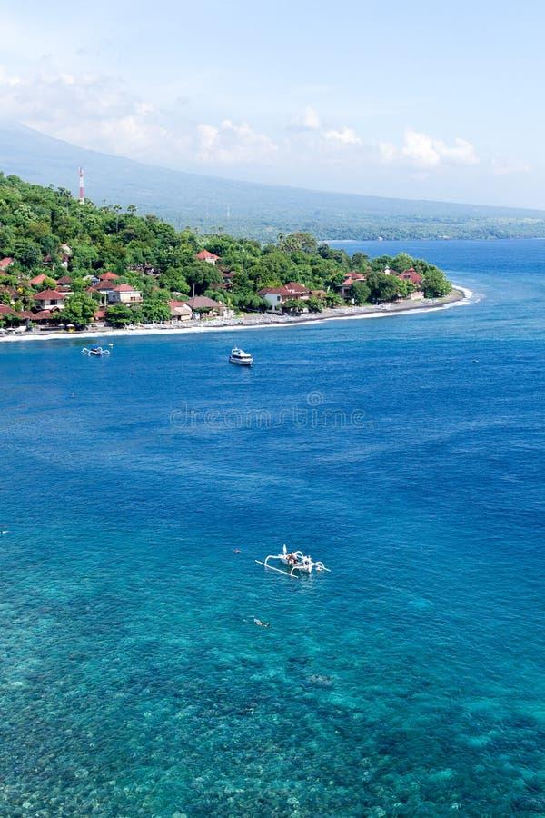 Nave tradicional en una playa de Bali foto de archivo libre de regalías