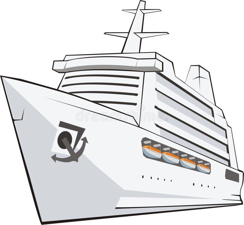 Nave turística ilustración del vector